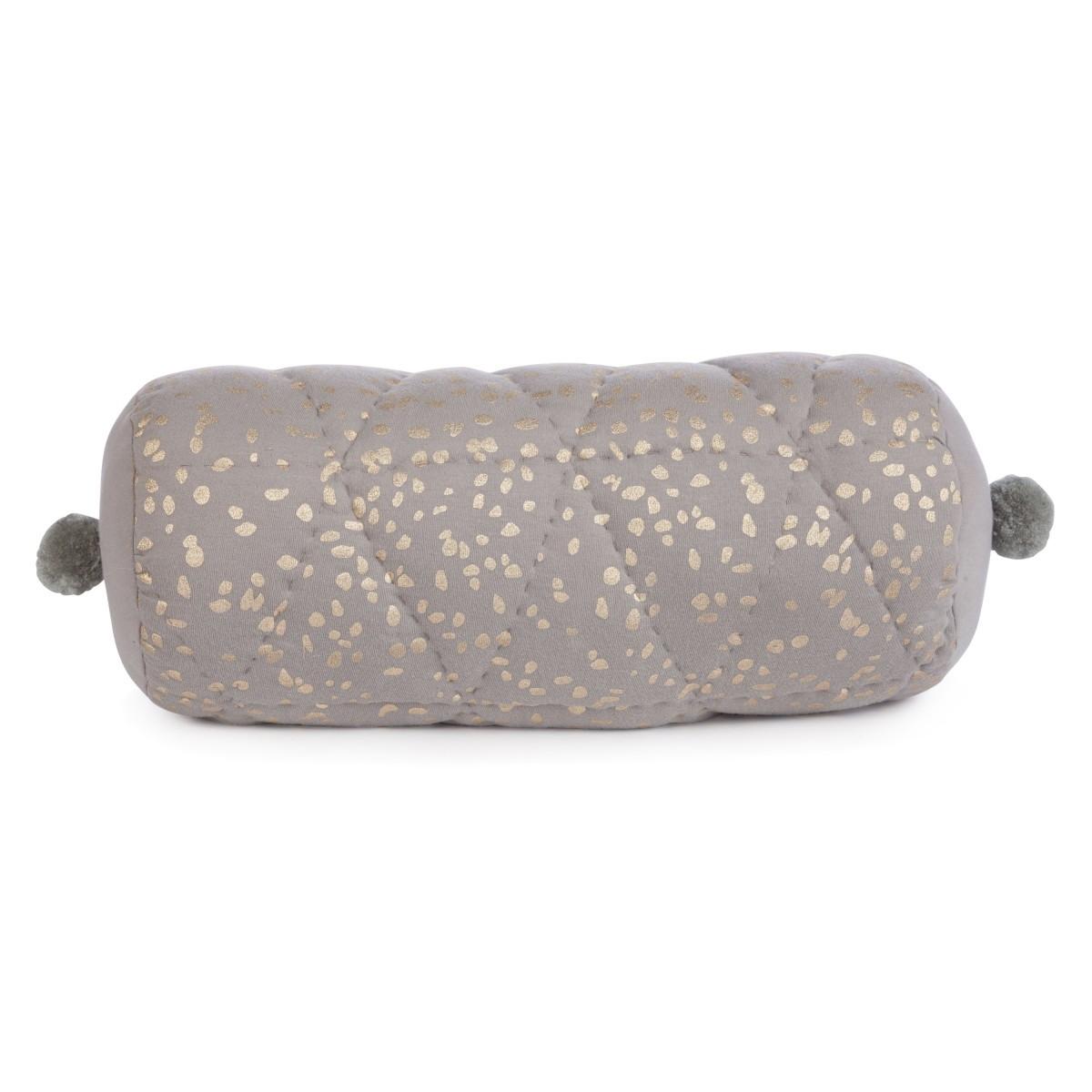 Confetti rolkussen grijs