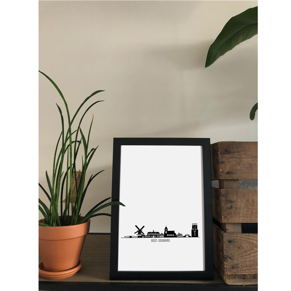 A4 poster skyline